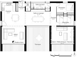 agréable plans de maison plain pied 3 chambres 12 plan au sol