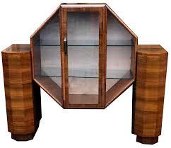 Art Deco Walnut Display Cabinet Circa 1930