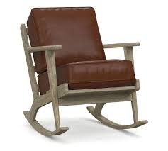 Raylan Leather Rocking Chair | Rocking Chair, Upholstered ... Barton Leather Rocking Chair Glider Ottoman Set With Cushion Beige Stingray Indoor Chairs Ikea And Replacement Cushions Seat And Back Pillow In Luxury J16 Rocking Chair Cushion Sun Lounger Garden Suede Padded Recliner Pads With Removable Car Ratings Reviews Retro 1960s 1970s Teak Cream Dutailier Amazoncom Dreamcatching Universal Augkun Mat Solid Thick Rattan Sofa Pillow Tatami Window Floor Lumbar For Wood Upholstered Wooden Rocker