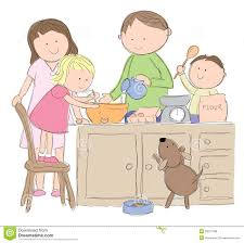 Family Cooking Stock Vector Image Of Cook Home Isolated