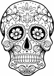 Intricating Sugar Skull Printable For Adults Coloring Pages And Book To Print Free Find More Online Kids