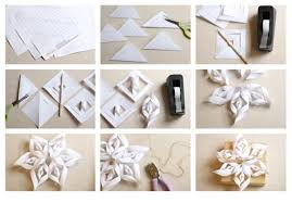 Good How To Make A D Snowflake Diy Christmas Decorations And Crafts Ideas With Paper Craft For Decoration Step By