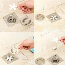 Zip It Bath And Sink Hair Snare by Home Bathroom Shower Drain Chain Hair Clog Remover