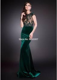online get cheap long green dress maxi with train aliexpress com