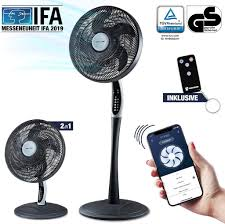 2in1 standventilator leise smarte tuya app assistant vtx300 55w tisch ventilator mit fernbedienung display fürs