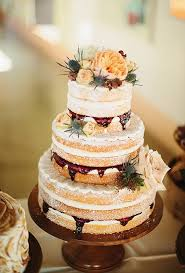 A Rustic Naked Wedding Cake By Cakewalk Bake Shop