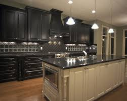 Heavenly Dark Cabinet Kitchen Designs Decor Collection Backyard Or Other View