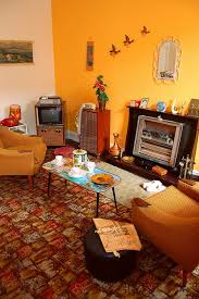 Living Room 1960s Decor My Parents Had A Yellow Wall In Their First House