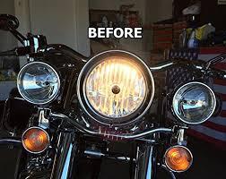 motorcycle led bulb headlight h4 harley road king