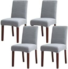 NICEEC Easy Fitted Dining Chair Covers Slipcovers Polyester Stretch  Removable Washable Kitchen Parson Chair Covers Protector For Dining Room  Wedding ... Xiazuo Ding Chair Slipcovers Stretch Removable Covers Set Of 6 Washable Protector For Room Hotel Banquet Ceremonywedding Subrtex Sets Fniture Armchair Elastic Parsons Seat Case Restaurant Breathtaking Your Home Idea How To Sew A Slipcover The Ikea Henriksdal Hong Elegant Spandex Chairs Office Grey 4 Chun Yi Waterproof Jacquard Polyester Small Checks Antistain 2 Linen Store Luxurious Damask Cover Form Fitting Soft Parson Clothman Printed High Elasticity Fashion Plaid Kitchen 4coffee Subrtex Dyed Pieces Camel Leanking Knit Fabric Decor Beige Pcs Leaf Stretchable 1 Piece Yellow