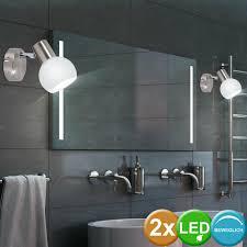 büromöbel 2er set led wand strahler beweglich bad spiegel