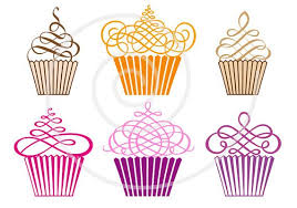 cute cupcakes digital clip art set