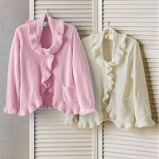 ruffle front bed jacket gump s