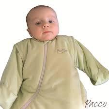 babyschlafsack winter purflo 75cm jersey grün