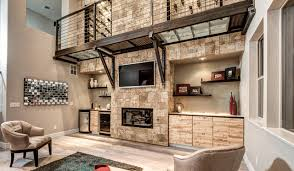 Contemporary Design Stone Accent Wall Family Room San Diego By