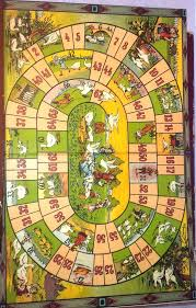 Rare Vintage Spears Game Of Goose Board