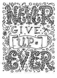 Bible Verse Coloring Pages For Adults Never Give Up Page Best Colouring Quotes Images On