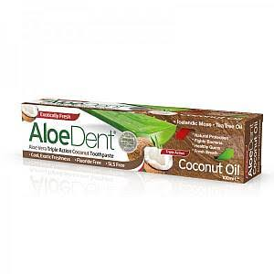 AloeDent Coconut Oil Triple Action Toothpaste
