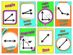 Angles And Lines Vocabulary Cards Word Wall From Common Core More On TeachersNotebook