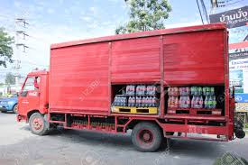 100 Coke Truck CHIANGMAI THAILAND NOVEMBER 20 2015 Coca Cola Stock