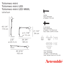 Tolomeo Desk Lamp Led by Tolomeo Mini Led Tw Table Lamp Artemide Black Friday Sale 30