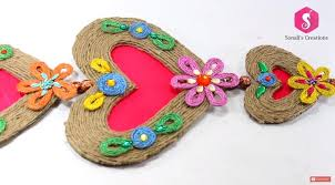 How To Make Wall Hanging From Jute Art Craft Ideas In Hangings With Cardboard Step By