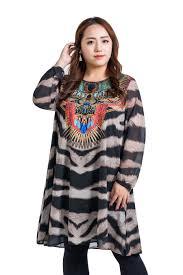women u0027s long sleeve national chiffon dress plus size