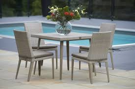 90cm Hampstead Square Dining Table With 4 Dining Chairs
