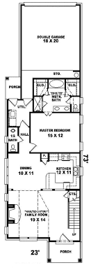 100 Narrow Lot Design House Plan With Garage Great House Plans