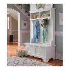 Coat Rack Bench Wooden Hall Tree Entryway Seat Storage Shelves Furniture White