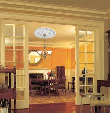 Small Two Piece Ceiling Medallions by Westinghouse Lighting 7775400 Cape May Polyurethane Ceiling
