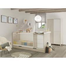 chambre bebe lit evolutif chambre bébé lit évolutif tiroir armoire finition décor pin
