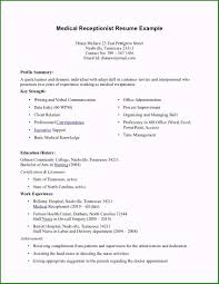 52 Astounding Medical Receptionist Duties For Resume You ... Receptionist Resume Examples Skills Job Description Tips Sample Pdf Valid Cover Letter For Template Where To Print Front Desk Archaicawful Medical Samples For And Free Forical Reference Velvet Jobs