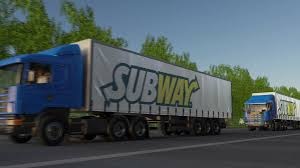 Freight Semi Trucks With Subway Logo Driving Along Forest Road ... Blast On Russian Subway Kills 11 2nd Bomb Is Defused Kfxl Interesting 1999 Ford Ranger For Sale Used Xlt Updated With New Video Lorry Involved In Fatal Crash Removed Transport Of Train Freight Semi Trucks With Subway Logo Driving Along Forest Road Outstanding 2012 Gmc Sierra 2500hd Parts Trailer Side Source One Digital Flickr Cloudy A Chance Of Meatballs 2 The Atlanta Foodimobile Tour Food Truck The Aardy By Advark Event Logistics Ael