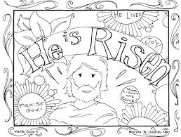 Easter Coloring Pages For Childrens Church Jesus Inside Resurrection