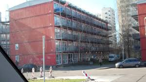 1000 Shipping Container City cheap houses Amsterdam Holland