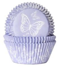 Lilac Butterfly Cupcake Cases Amazoncouk Kitchen Home