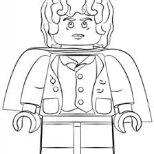 Lego Frodo Coloring Page Free Printable Pages