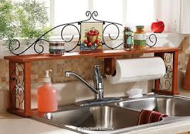 Apple Decor Over The Kitchen Sink Shelf