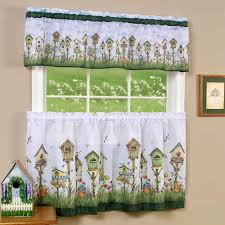 Window Art Tier Curtains And Valances by Kitchen Curtain And Valence Set Home Sweet Home Walmart Com