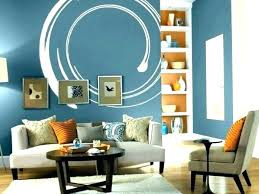 Orange Accent Wall And Blue Decor Living Room Accents Designs Design Home
