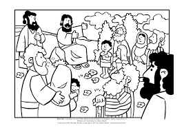 Coloring Page The Sermon On Mount SS Link Christian Life And Faith Biblical Foundation Jesus Gods