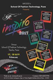 Inspiro 2017 Is Open For Participation Of Different Colleges Throughout Pune Various Competitions Like Dance Singing Poster Making Fashion Show