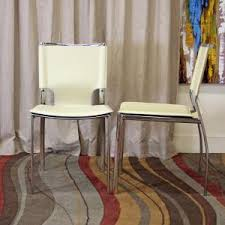 baxton studio montclare ivory faux leather upholstered dining