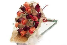 wooden bouquet tedi mesh wrapped