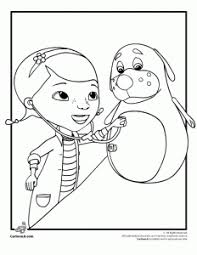 Doc McStuffins With A Patient Coloring Page