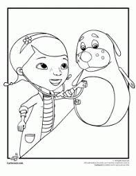 Doc McStuffins With A Patient Coloring Page
