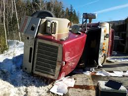 100 Truck Rollover Canadian Driver Injured In Chain Of Ponds Log Truck Rollover