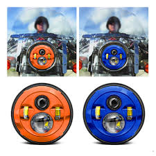 Harley Davidson Lamps Target by Harley Blue Daymaker 7inch Led Headlights With Blue 4 5inch