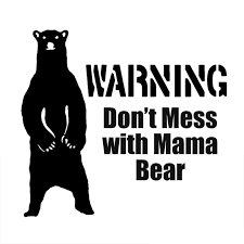 14CM128CM Mama Bear Mom Mothers Kids Funny Warning Vinyl Decal Car Stickers Decorative